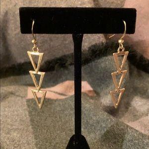 Jewelry - Modern Pierced Dangle Silver Tone Dangle Earrings